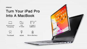 Doqo Teclado con HUB para iPad Pro