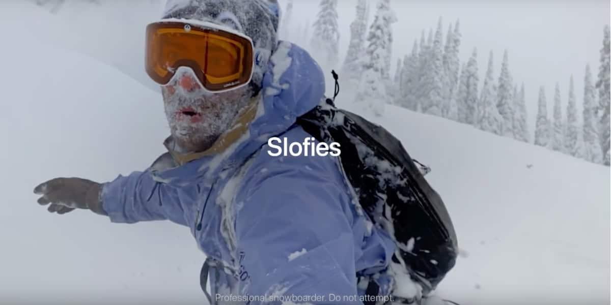 La borrasca llega a los slofies llenando de nieve los nuevos spots de Apple