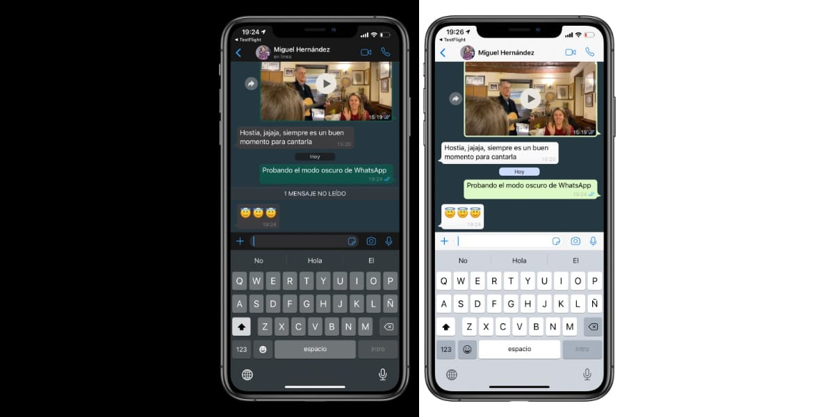 WhatsApp en Modo Oscuro ya disponible en la Beta para iOS