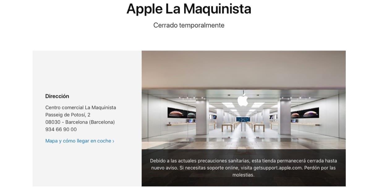 Apple store cerradas