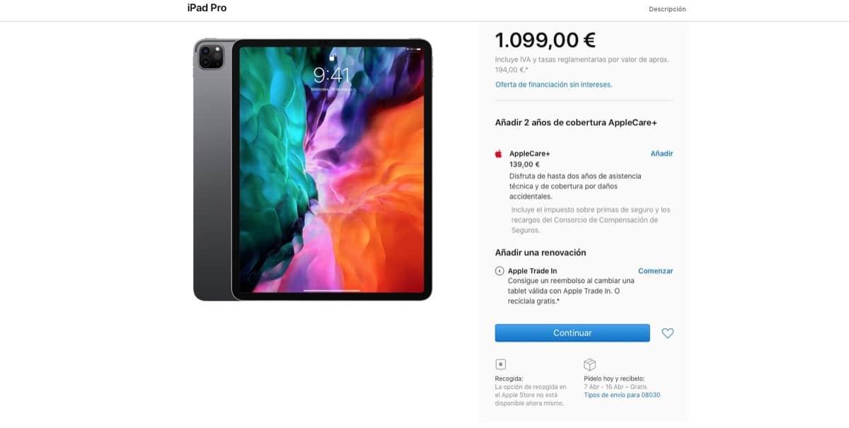 Envíos iPad Pro