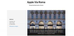 Apple Store Italia cerrada COVID-19