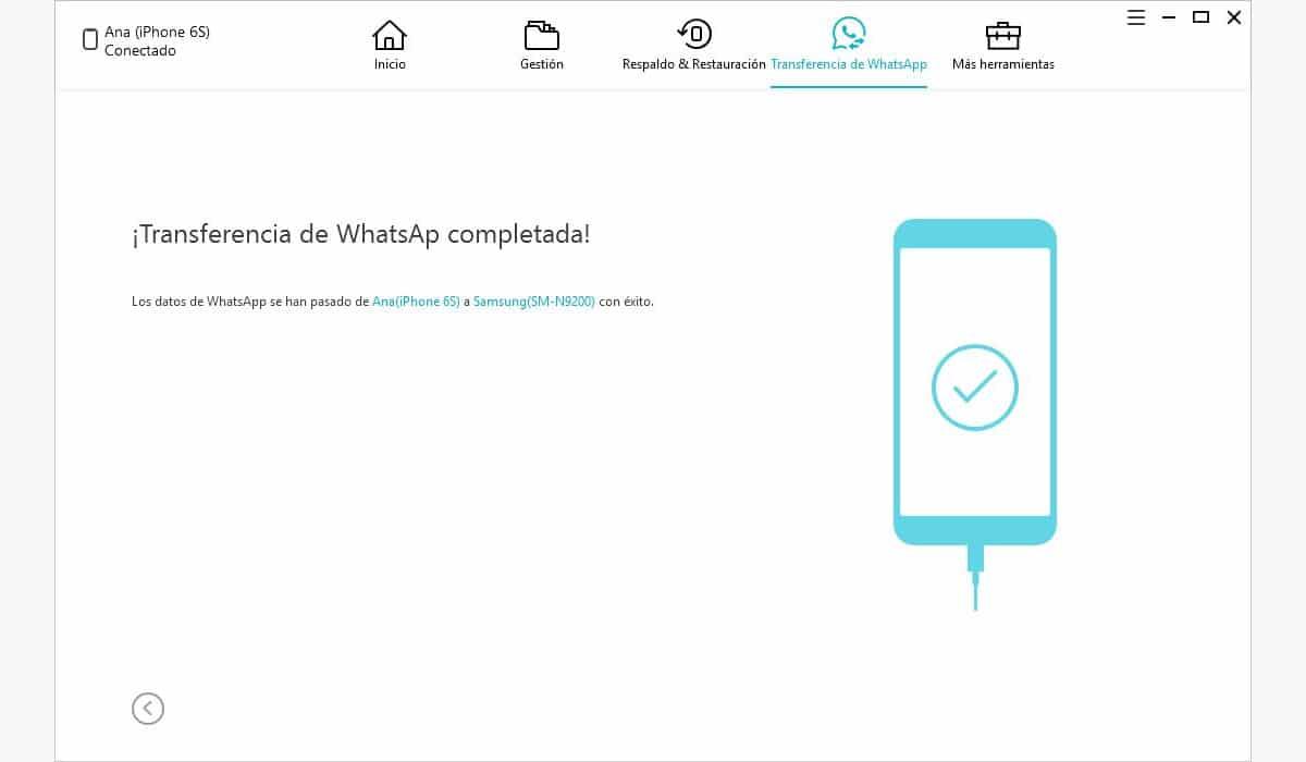Cómo pasar los chats de WhatsApp de iPhone a Android - iCareFone