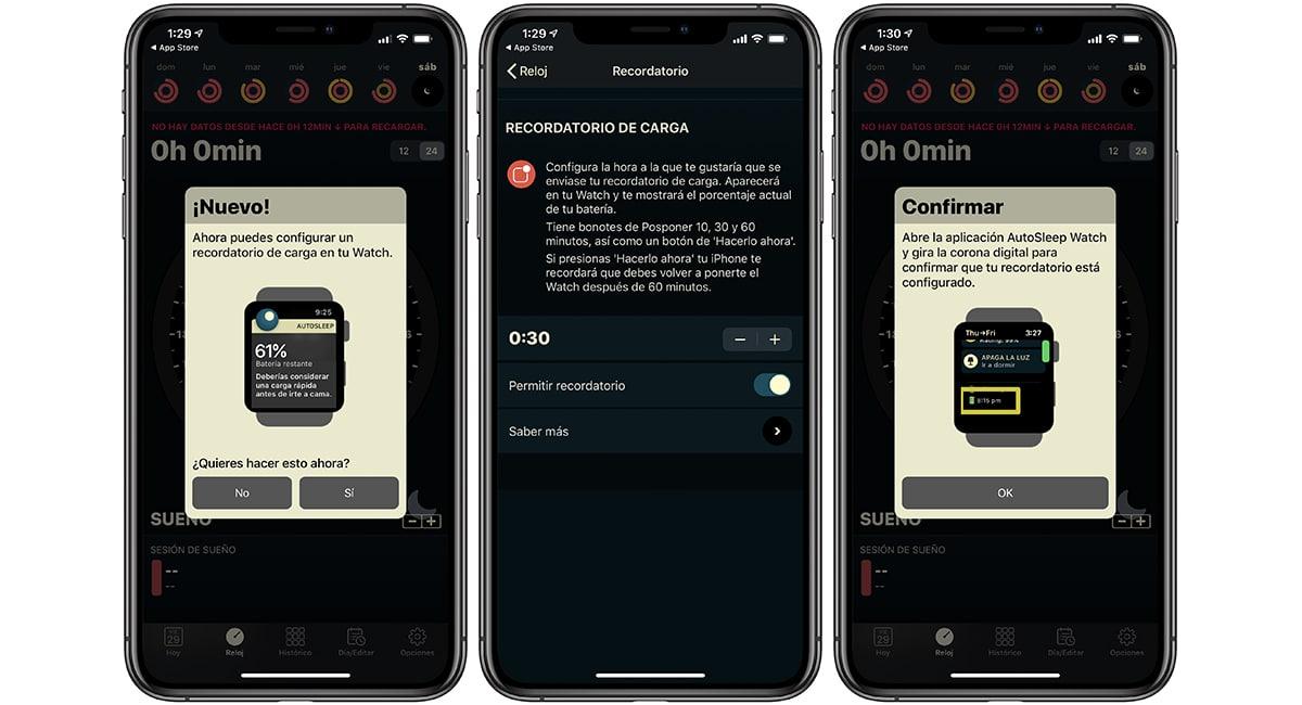 AutoSleep añade recordatorios de carga y alarmas inteligentes en su última actualización