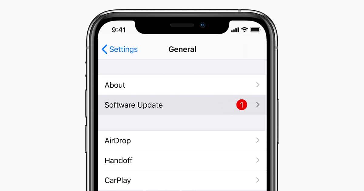 actualizar iOS iPhone