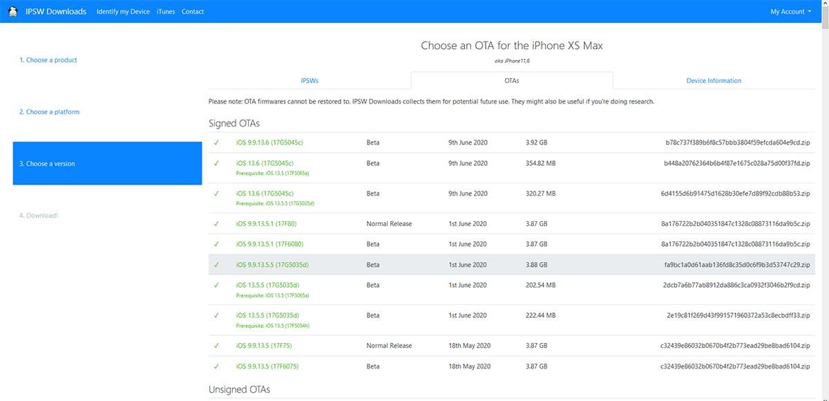 Descargar iOS 13.5.5 beta