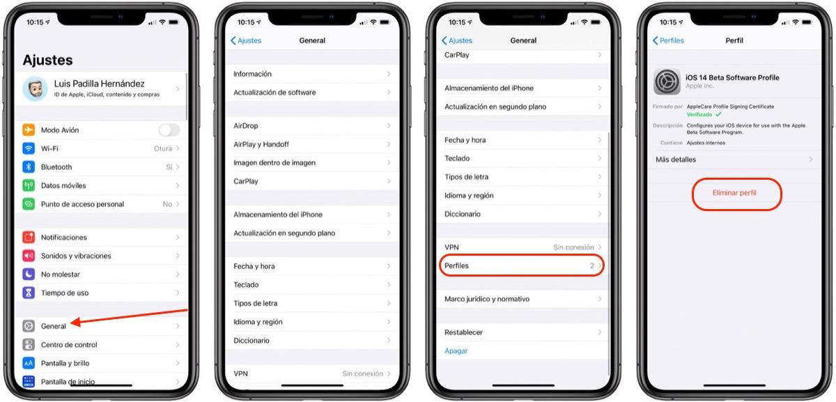 Eliminar beta iOS™