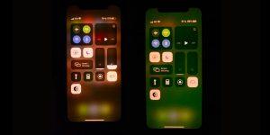 Pantalla iPhone 11 verde