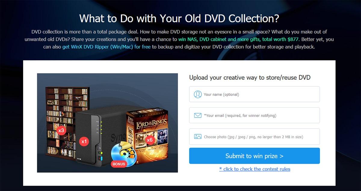 WinX DVD Ripper - convertir un DVD a MP4