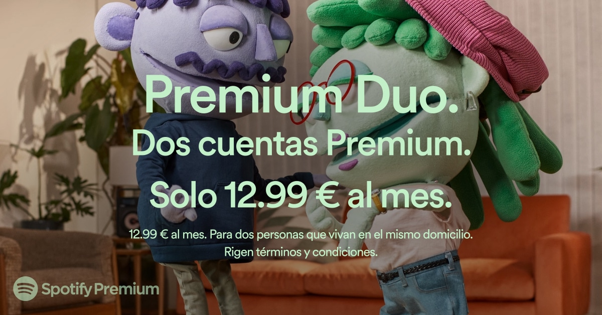 Spotify Premium Duo ya disponible en España