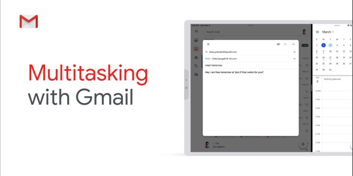 Gmail Pantalla partida