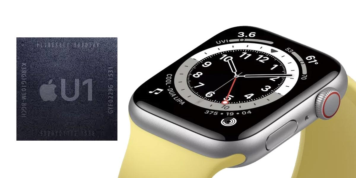 El Apple Watch Series 6 lleva el chip U1 del iPhone 11