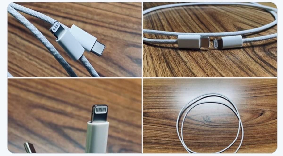 El cable Lightning trenzado para el iPhone 12 aparece de nuevo en fotos
