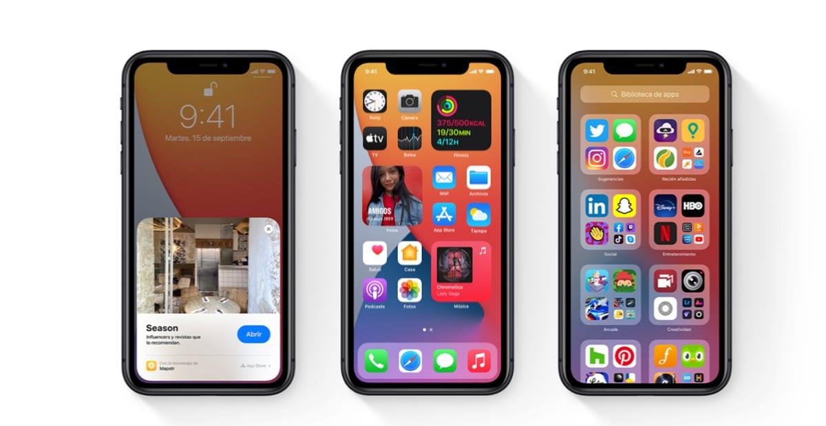 Evolución de modelos de iPhone