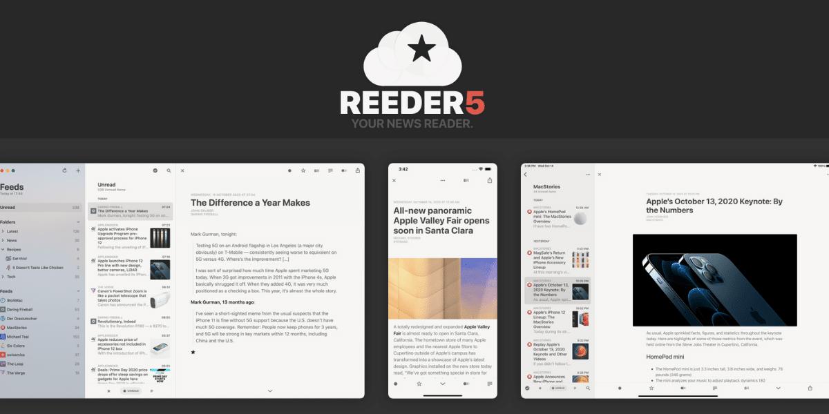 Reeder 5 recibe los widgets en iOS 14