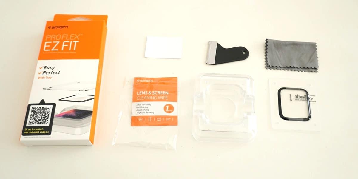 Kit protector pantalla Apple Watch de Spigen
