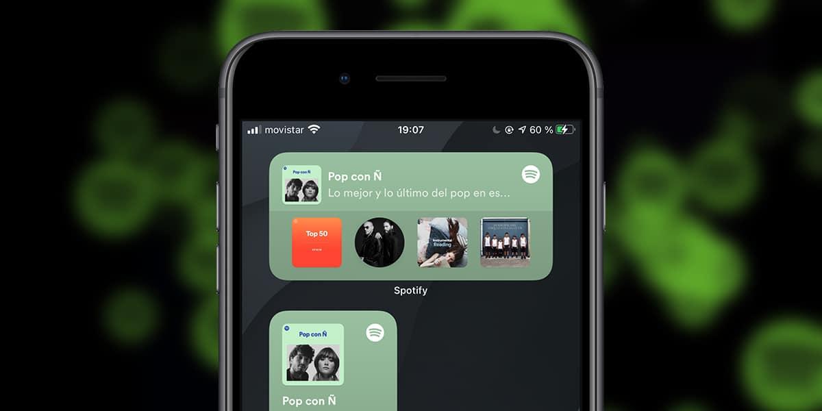 Widget de Spotify para iOS y iPadOS 14