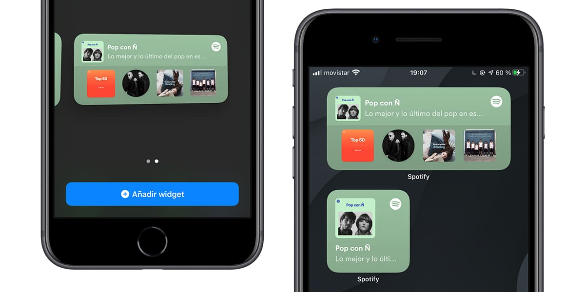 Añade a la pantalla de inicio el widget de Spotify en iOS 14