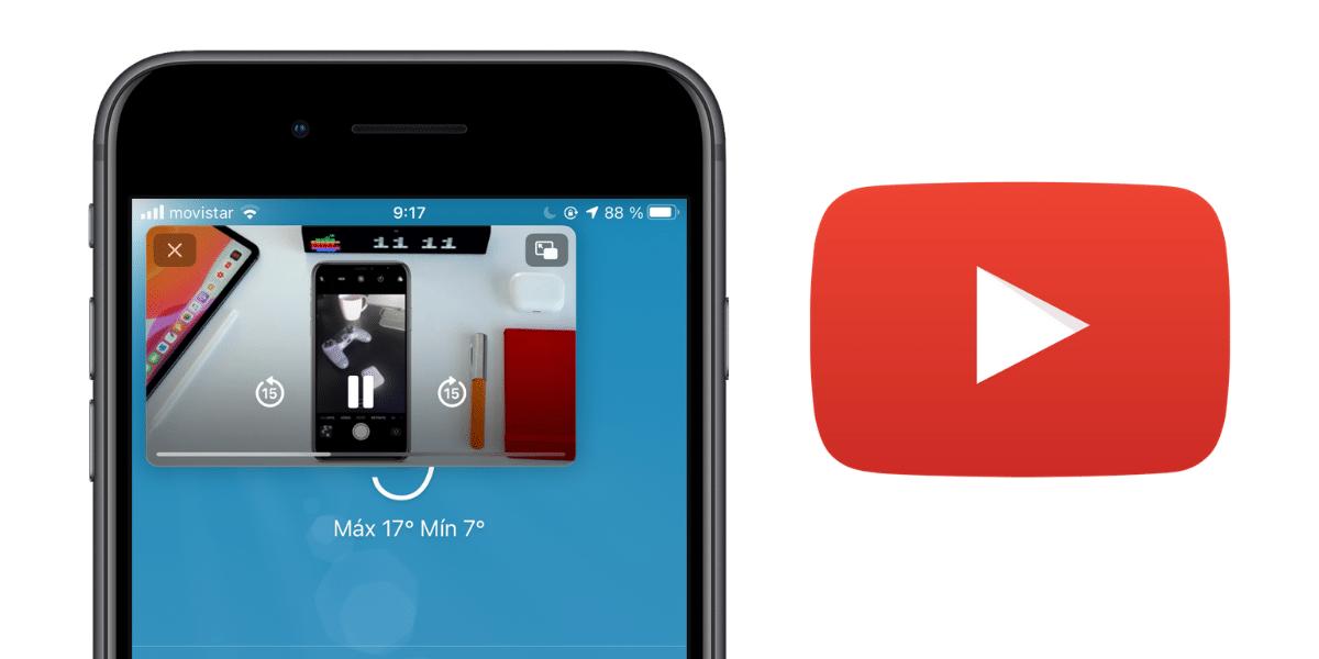 Imagen en imagen de Youtube en iOS