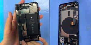iPhone 12 abierto