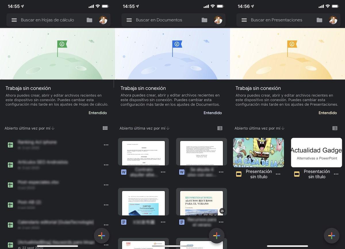 Modo oscuro Google Dcos