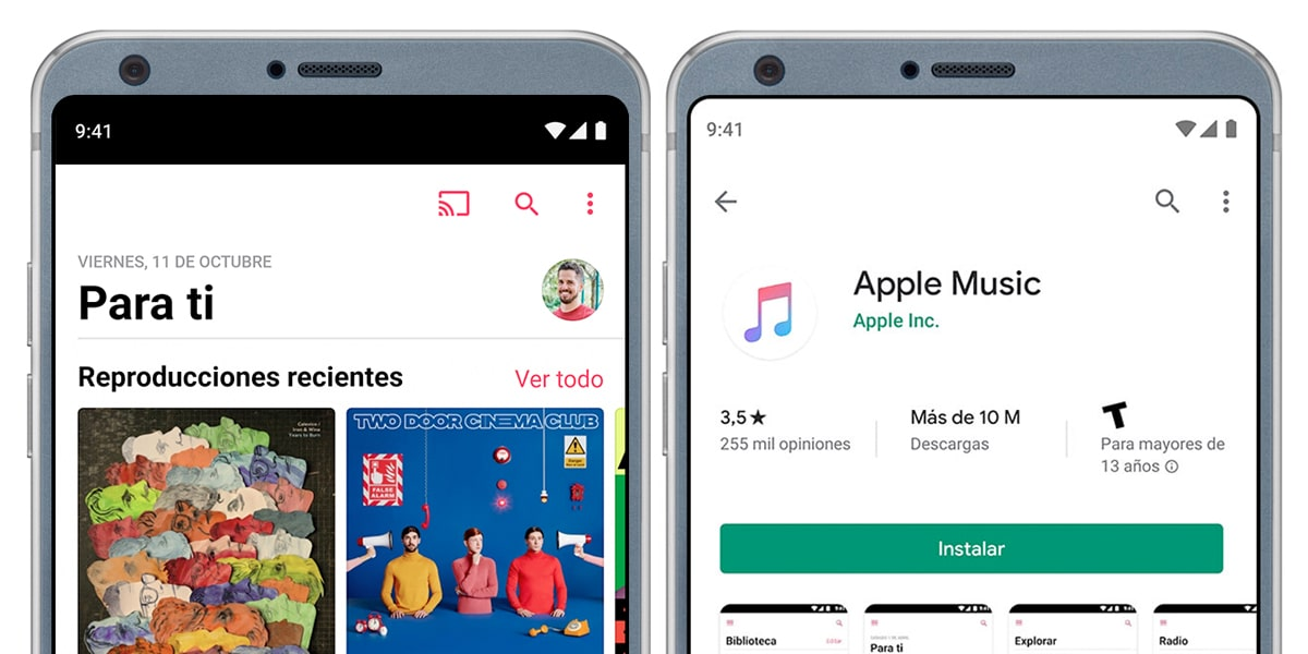 La app de Apple Music para Android