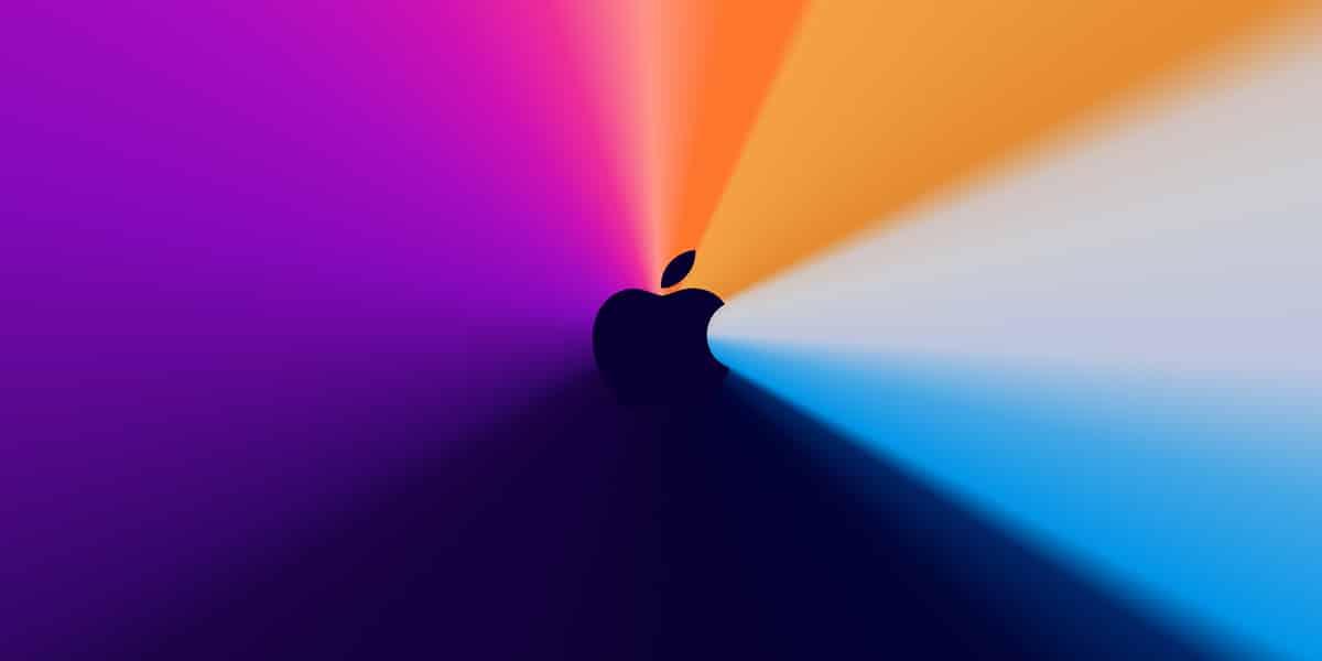 Fondo de Apple™ del suceso 'One More Thing'
