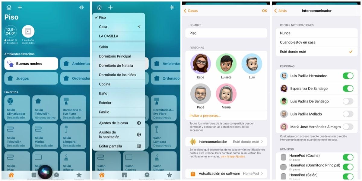 Configuración de Intercomunicador en la app Casa