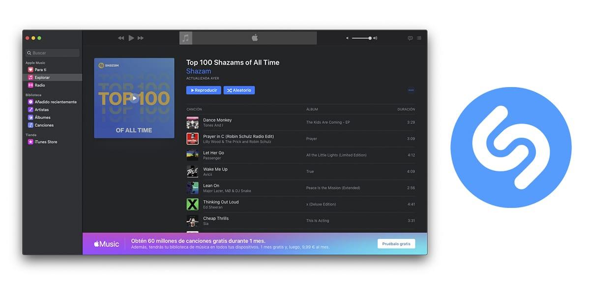 Shazam lanza la lista de su Top 100 de canciones más buscadas