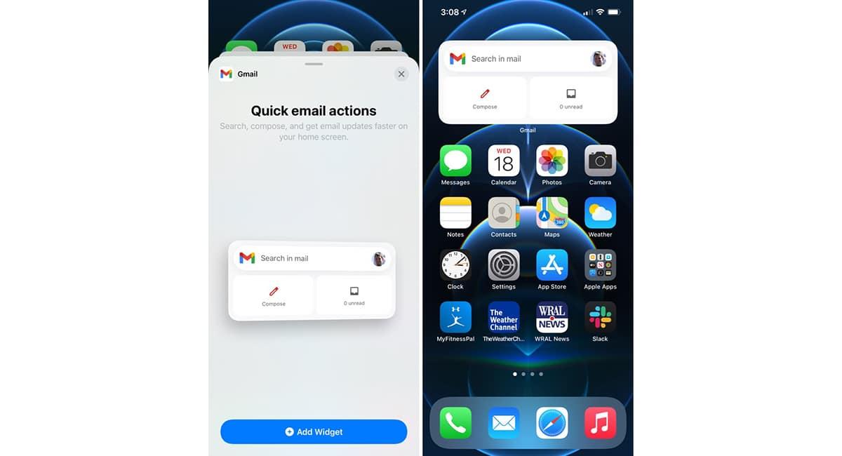 Widgets Gmail