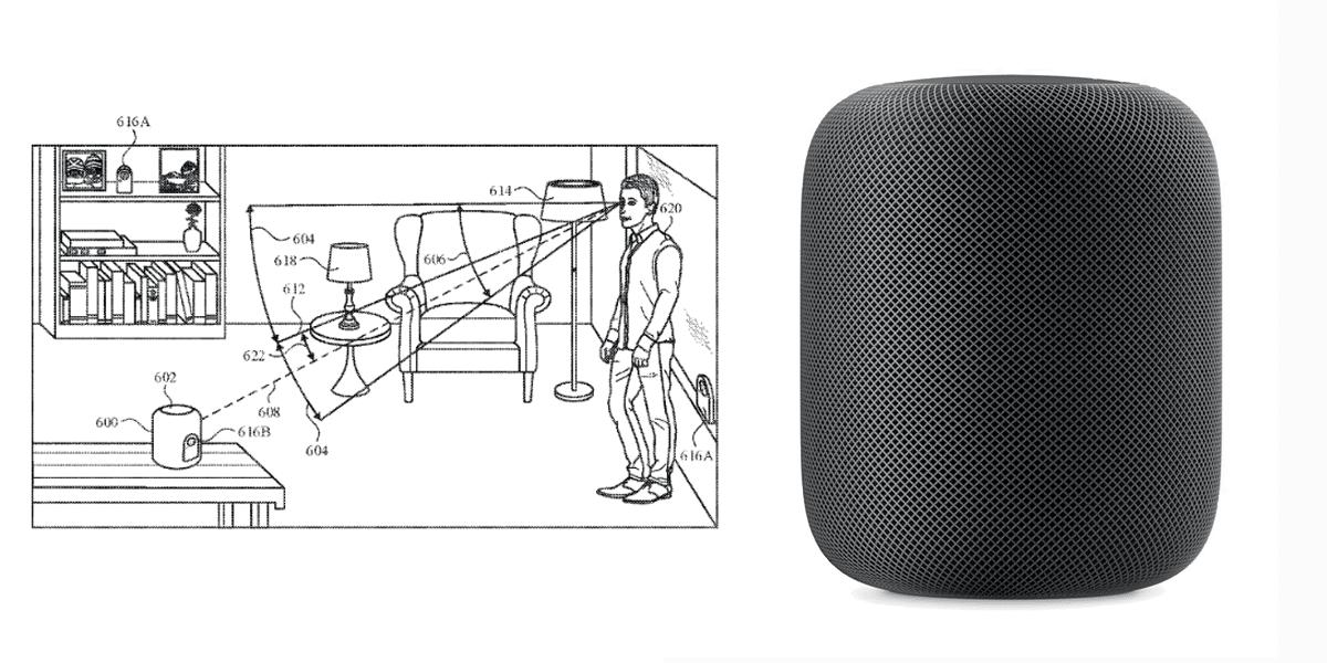 El nuevo control por mirada patentado por Apple para el HomePod