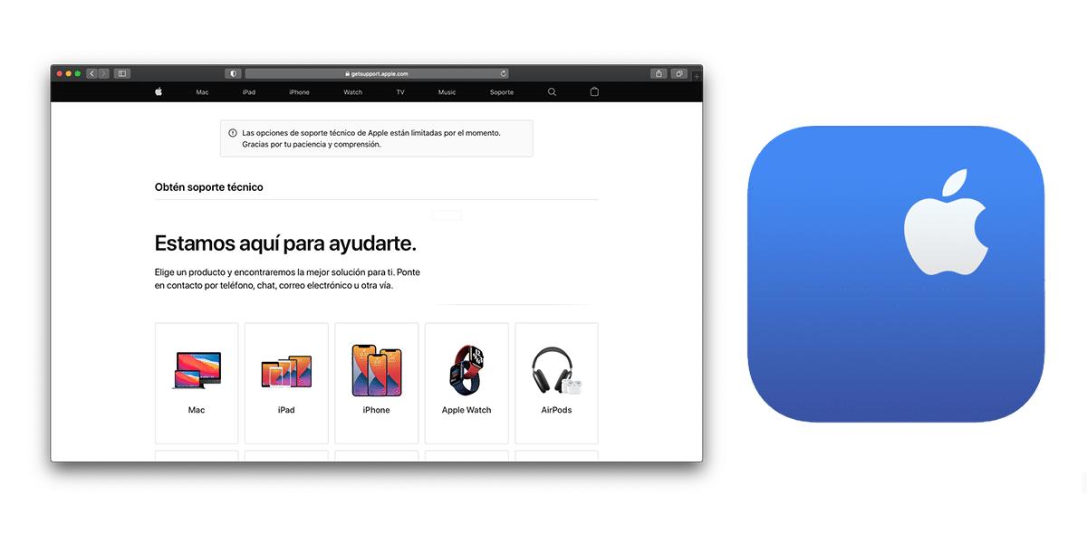 Web oficial del soporte técnico de Apple