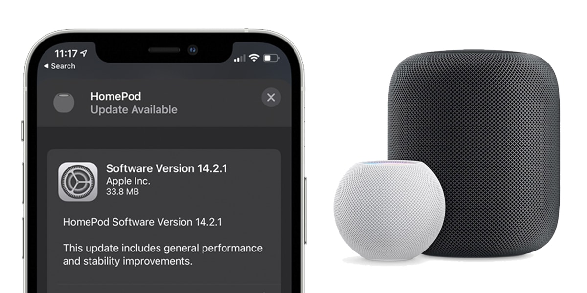HomePod y HomePod Mini reciben iOS 14.2.1