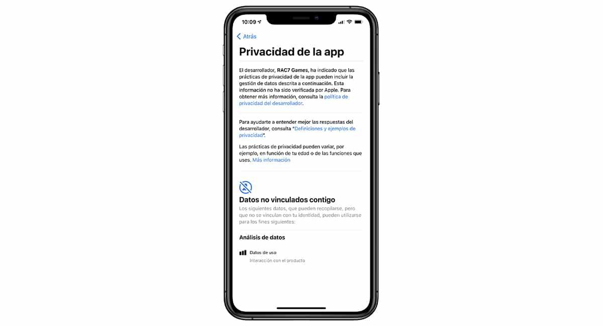Privacidad en la App Store
