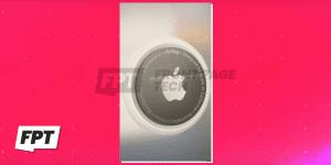 La animación de emparejamiento de los AirTags de Apple