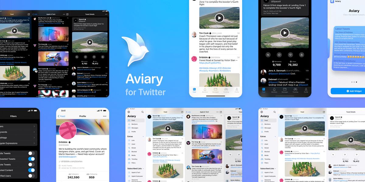 Aviary, un cliente de Twitter diferente y moderno