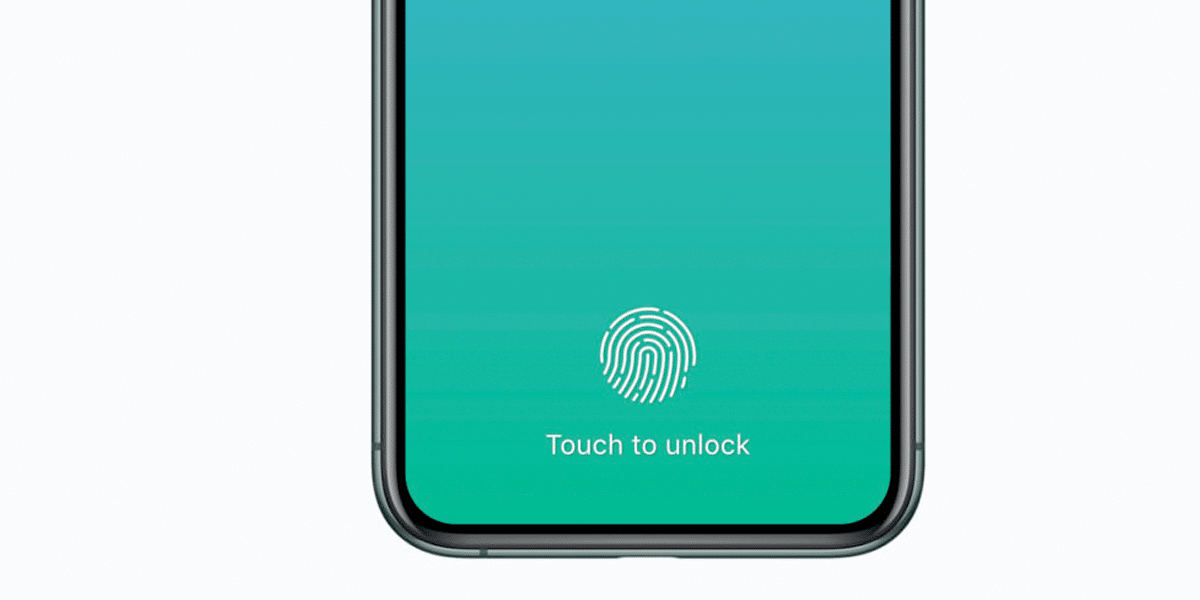 Touch ID bajo la monitor del iPhone 13