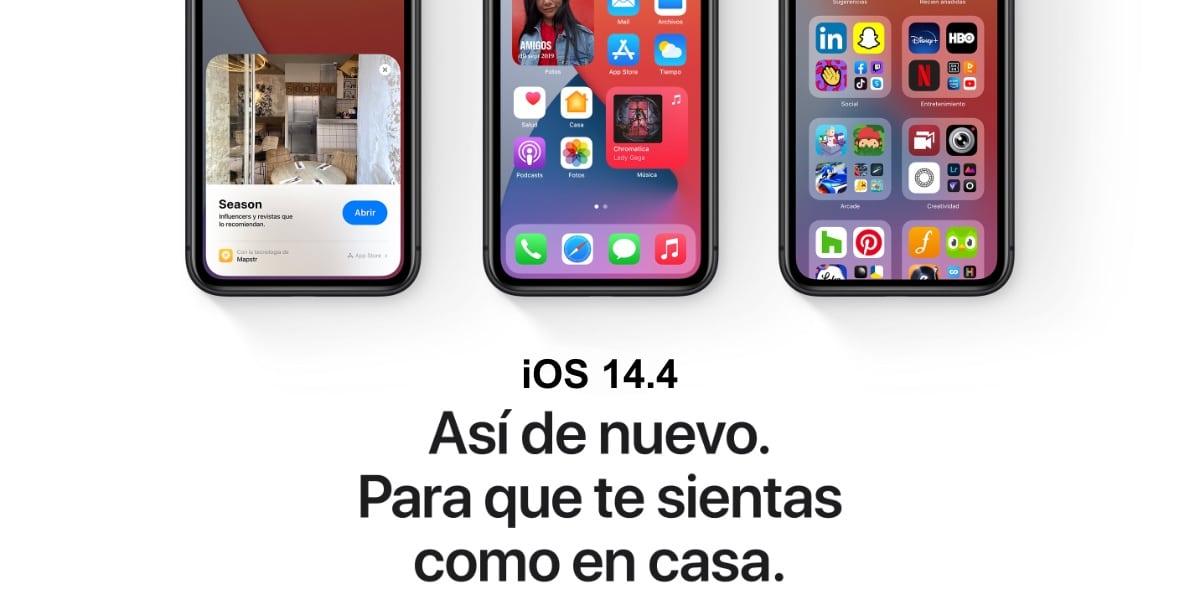 Apple lanza iOS 14.4, iPadOS 14.4, y watchOS 7.3
