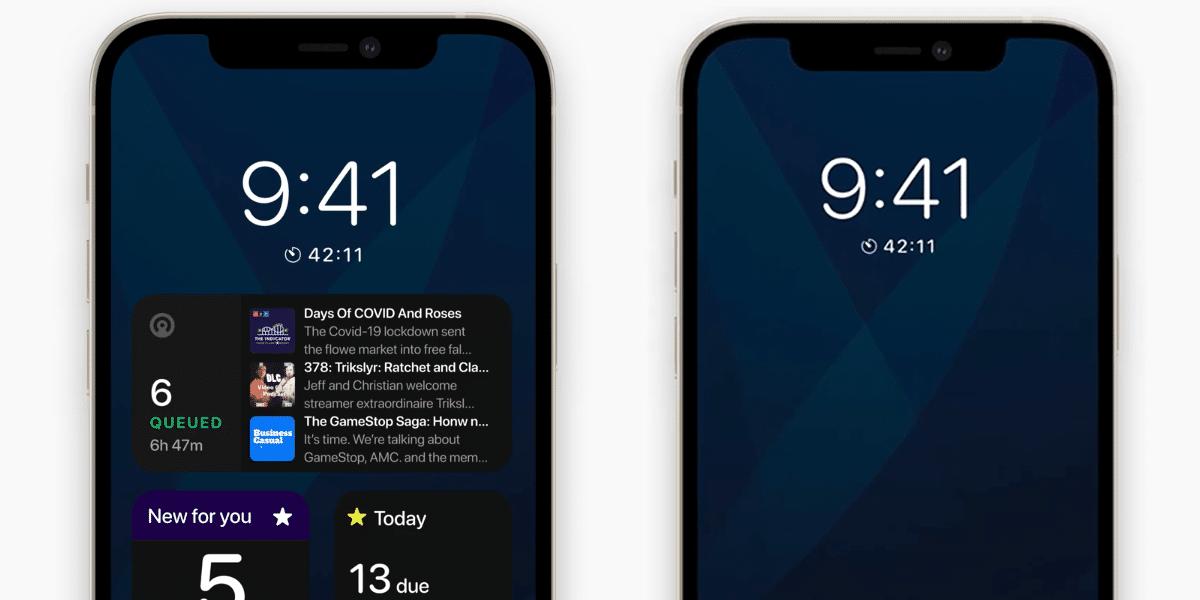 Concepto de Always On en el iPhone 13