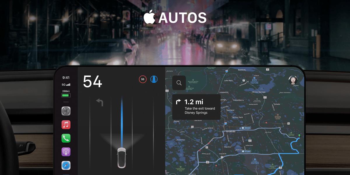 Concepto de interfaz del Apple Car