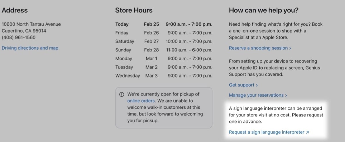 Cita interpretes tiendas Apple