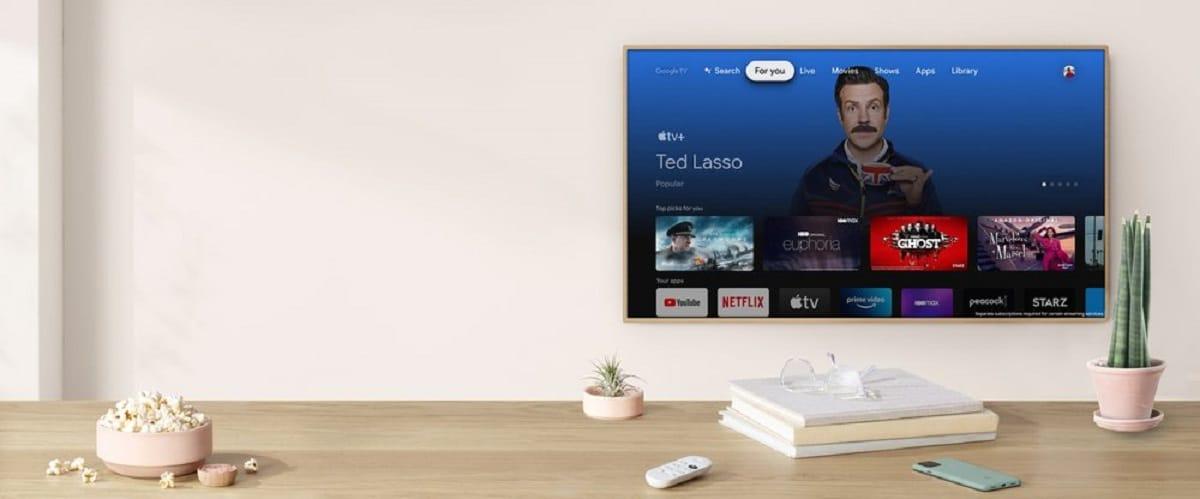 Chromecast Google TV con Apple TV