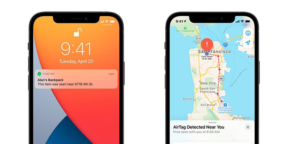 AirTag de Apple y la app Buscar