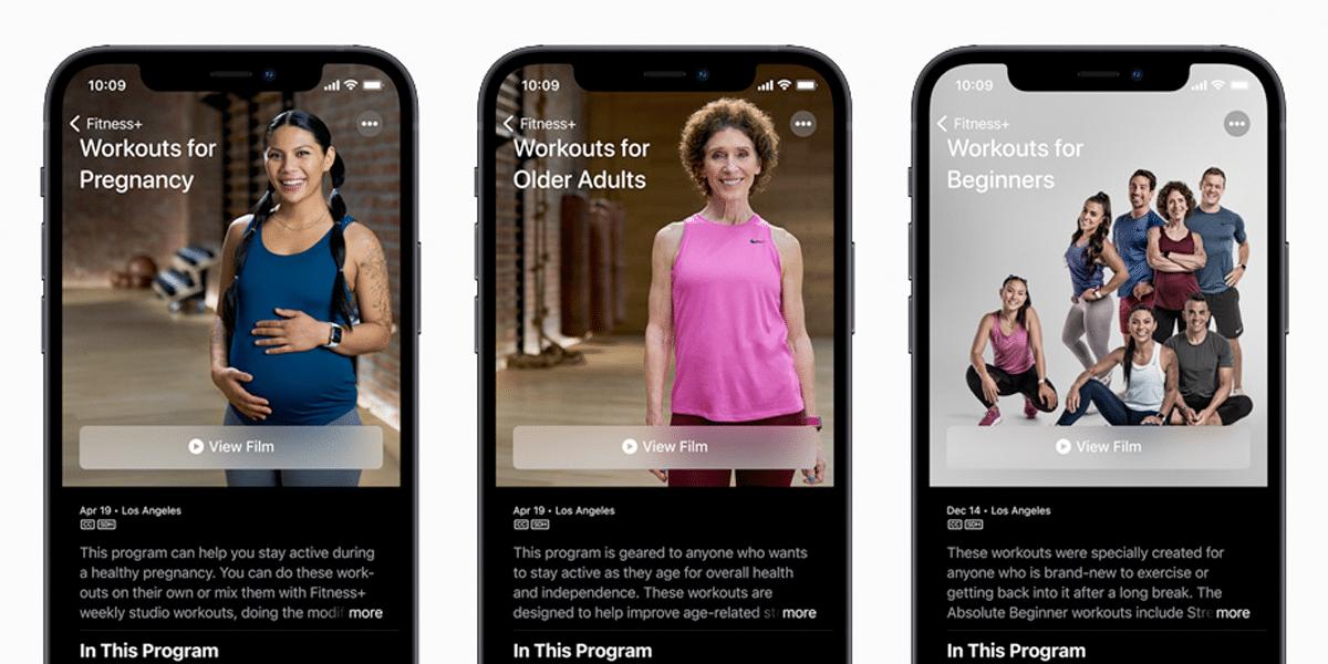 Nuevos entrenamientos en Apple Fitness+
