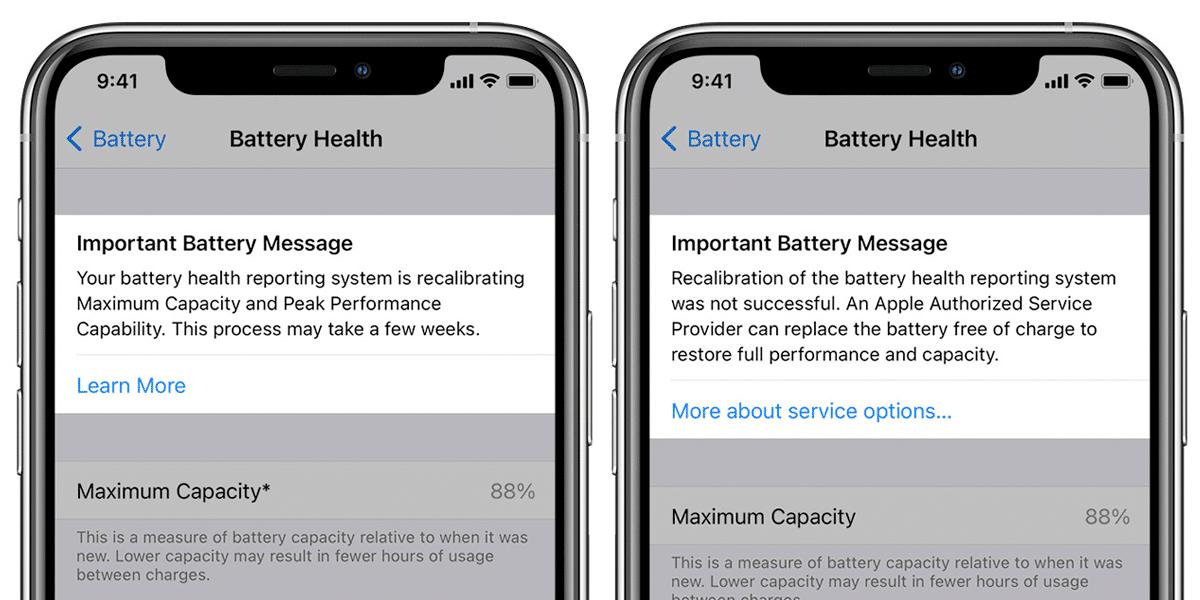 Calibración de estado de batería en iOS 14.5