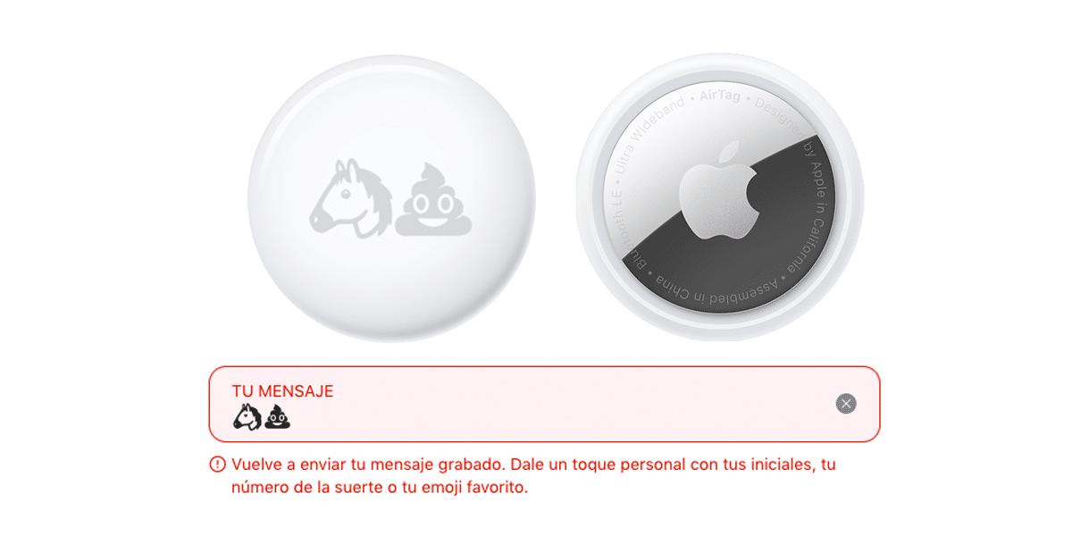 Apple veta algunos emojis en el grabado de los AirTag