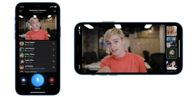 Vídeollamadas grupales en Telegram