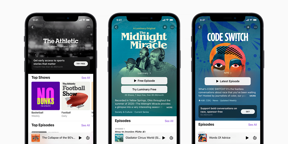 Apple Podcasts en iOS 14.5