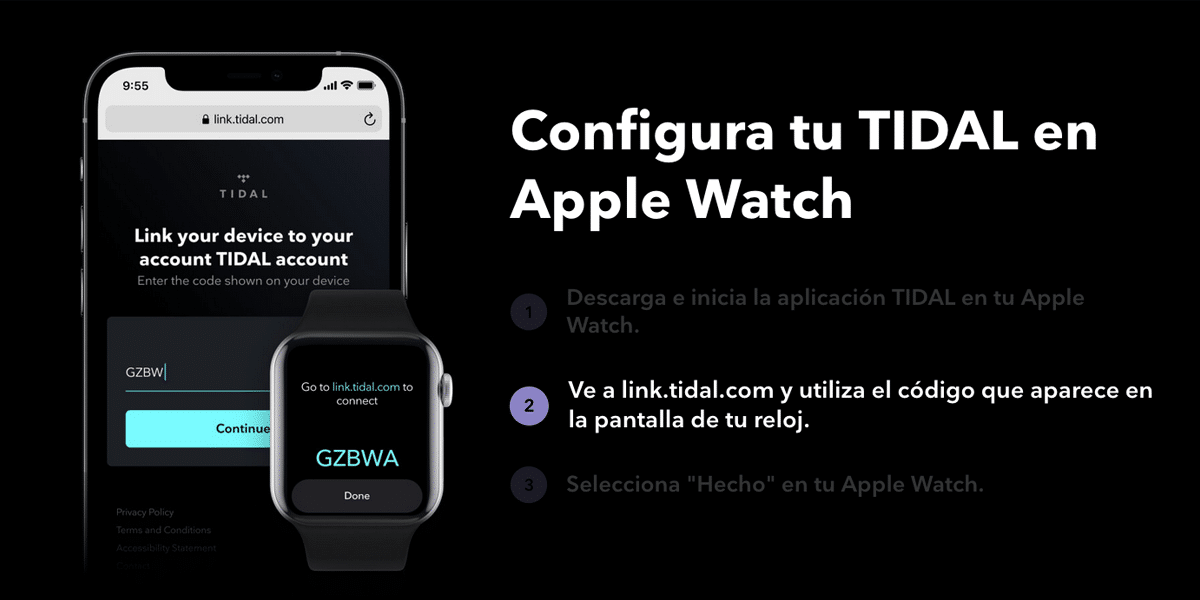 Apple Watch y TIDAL