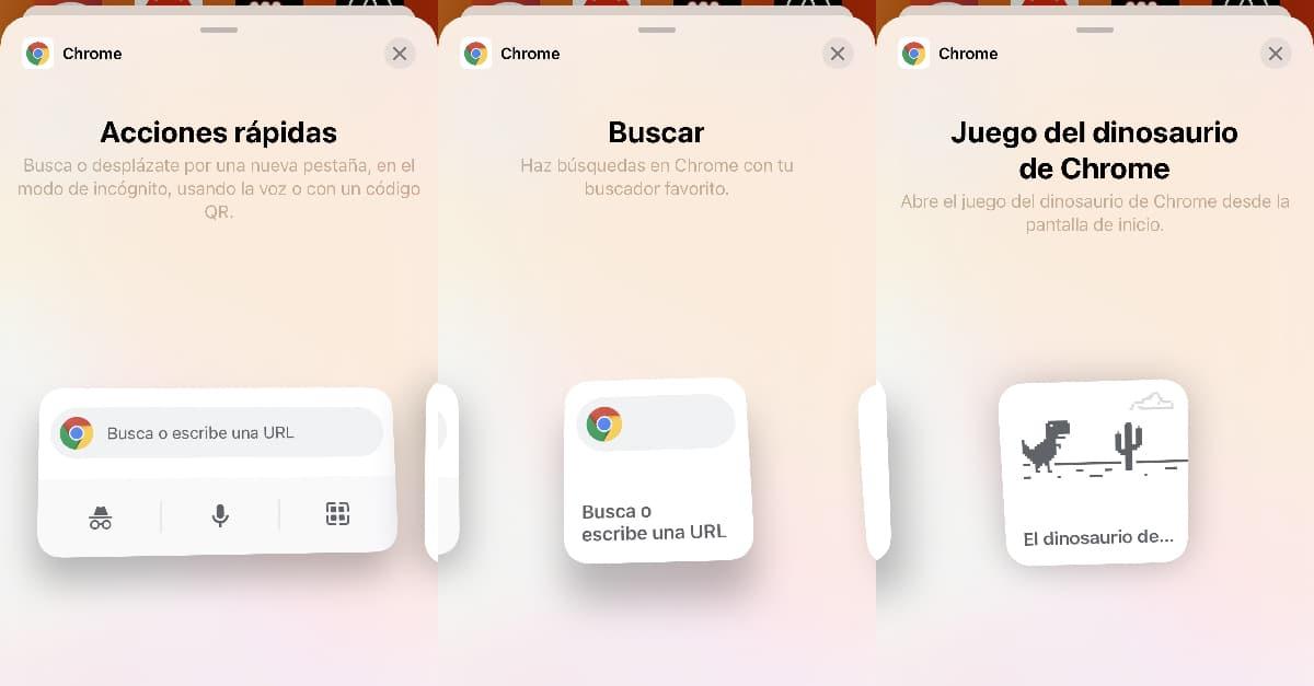 Widgets Chrome para iOS